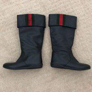 Gucci Toddler Girls Black boots